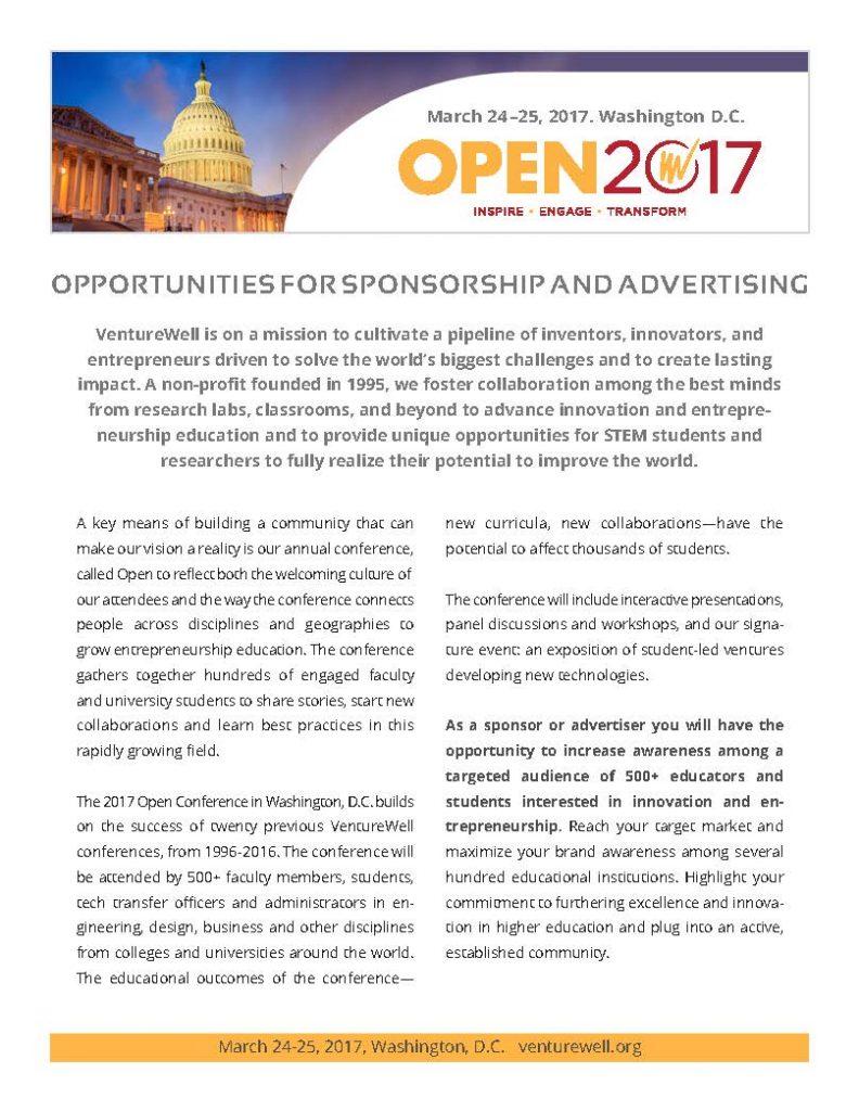 open 2017 sponsorship